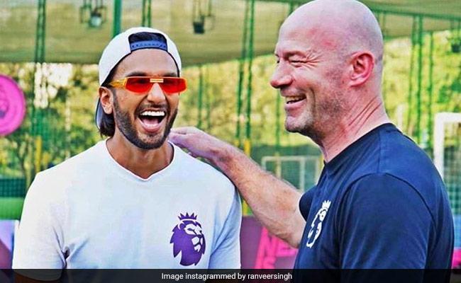 """When Ranveer Singh Met """"Footballing Royalty"""" Alan Shearer"""
