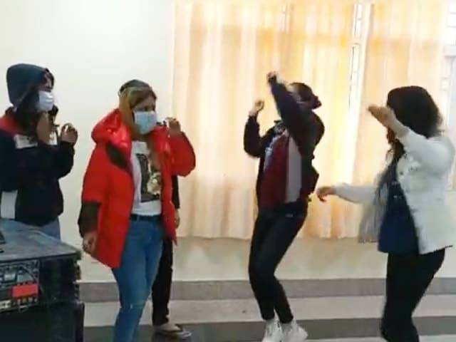 Video : People Dance At Coronavirus Quarantine Facility In Delhi