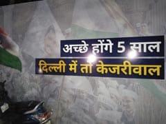 Delhi Election Result: चुनाव परिणाम आने से पहले ही आम आदमी पार्टी मुख्यालय के बाहर लगा नया पोस्टर, लिखा- अच्छे होंगे 5 साल...