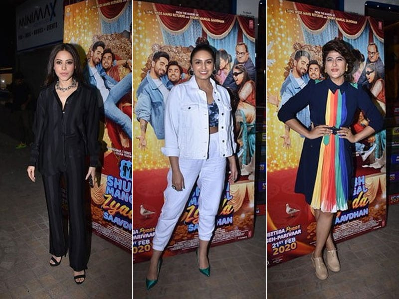 Shubh Mangal Zyada Saavdhan Screening:  Tahira Kashyap, Nushrat Bharucha And Others Cheer For Ayushmann Khurrana's Film
