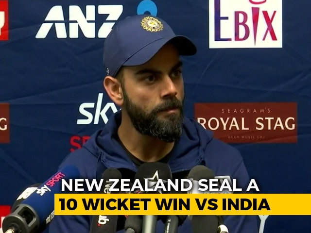 """Video : """"1st Innings Performance Pushed Us Back"""": Virat Kohli After India's 10-Wicket Loss"""