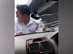 """Delhi Cop Taken """"Hostage"""" On Car Bonnet For 2 Km, Video Goes Viral"""