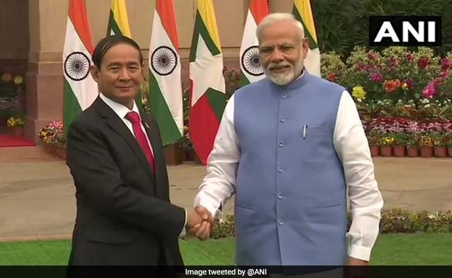 Myanmar President Meets PM Modi In Delhi, Discusses Bilateral Issues