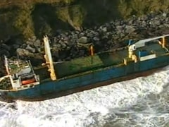 Abandoned 'Ghost Ship' Washes Ashore In Ireland After Storm Dennis