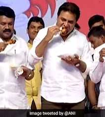 On Stage, Telangana Ministers Eat Chicken To Dispel Coronavirus Fears