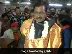 Arvind Kejriwal At Hanuman Temple For Divine Aid As Delhi Readies To Vote