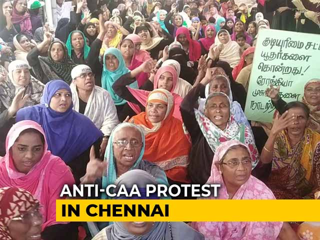 Video : Now, Shaheen Bagh Like Anti-CAA Protest In Chennai