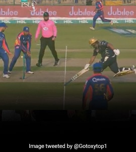 Watch: Moin Khan's Son Completes Run Holding Bat Upside-Down In PSL