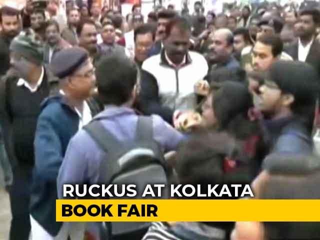 Video : Left, BJP Supporters Clash At Kolkata Book Fair