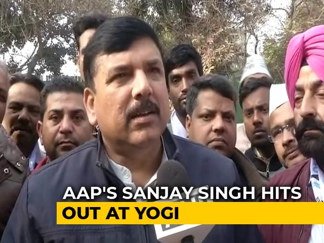 Video : AAP Leader's Scorching Attack On Yogi Adityanath Over Delhi Speech