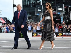 Trump's Reelection Campaign Goes To US Racetrack With Air Force One Flyby