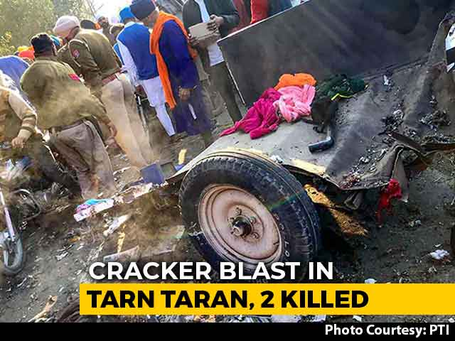 Video : 2 Dead After Cracker Explosion At Religious Rally In Punjab's Tarn Taran