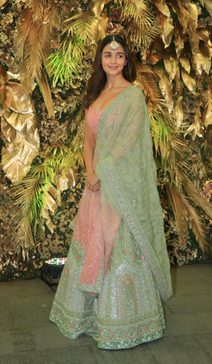 All Eyes Are On Alia Bhatt In A Gorgeous Pastel Lehenga