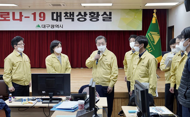 S Korea 'Very Grave': President Moon As Coronavirus Cases Approach 1,000