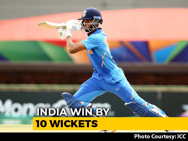 Video : Yashasvi Jaiswal's Century Helps India Beat Pakistan To Enter U-19 World Cup Final