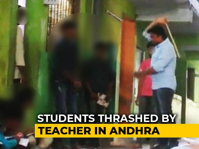 Video : On Video, Teacher Thrashes Students In Andhra Pradesh