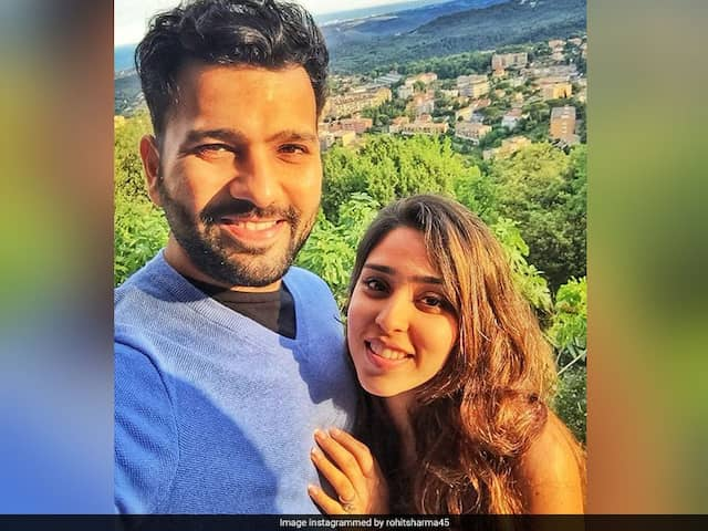 """Like Theres No Tomorrow"": Rohit Sharma Shares Adorable Picture With Wife Ritika Sajdeh"