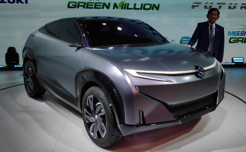 Maruti Suzuki Managing Director & CEO Kenichi Ayukawa with the Futuro-e concept.