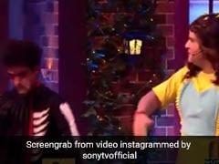 'कपिल शर्मा शो' के सेट पर 'भूत' बनकर डराने आया ये शख्स, कपिल और कृष्णा ने मिलकर कर दिया बुरा हाल...देखें Video