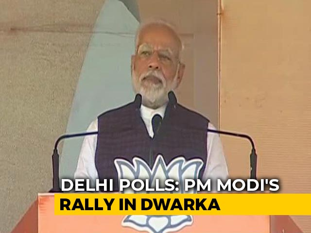 """Video : PM Says """"Delhi Needs Government That Solves Problems, Doesn't Cause Them"""""""