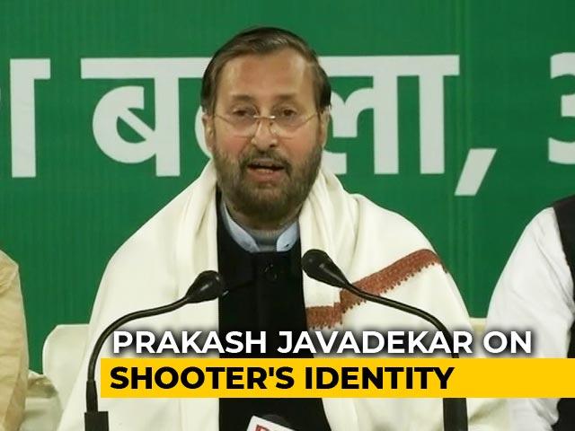 """Video : """"AAP Has Been Exposed"""": BJP's Prakash Javadekar On Shaheen Bagh Shooter"""