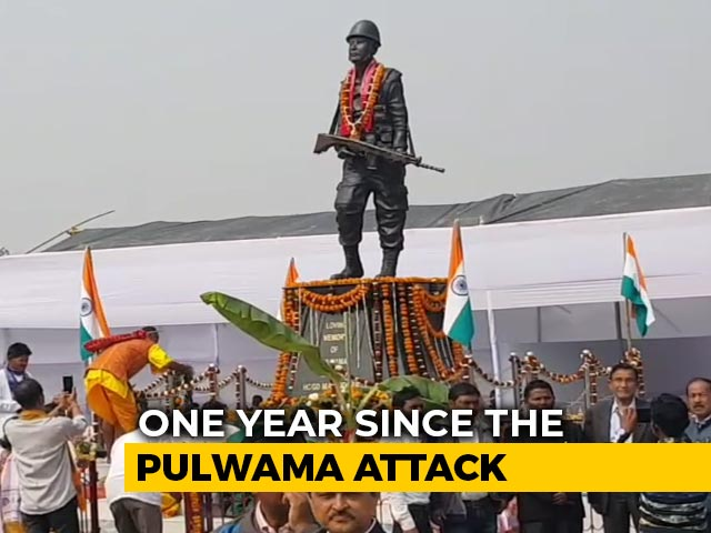 Video : Family, Villagers Build Life-Size Statue Of Jawan Killed In Pulwama Attack