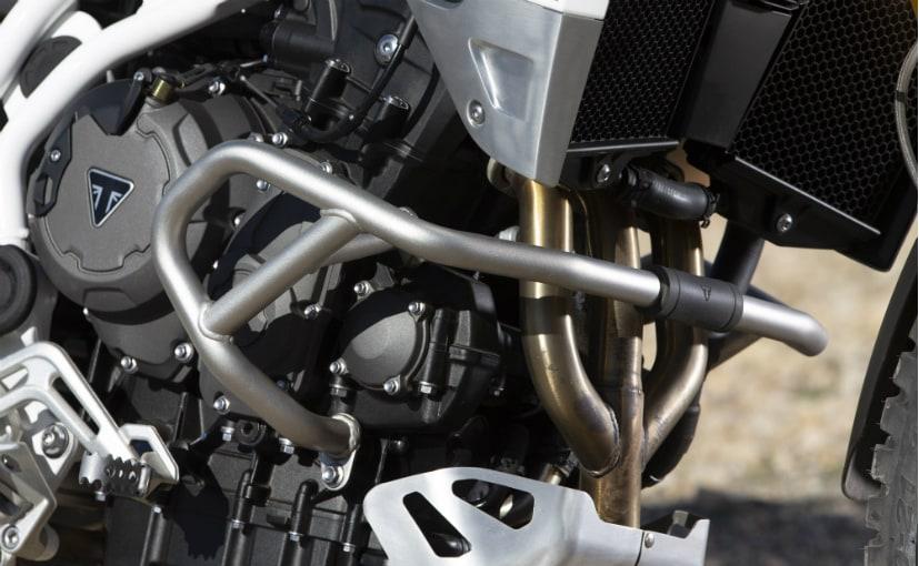 888 cc triple-cylinder engine of Tiger 900 bike