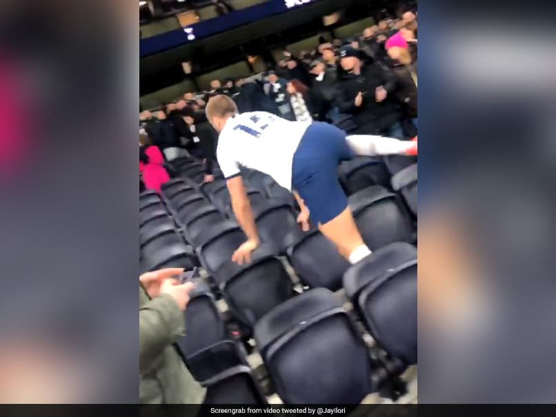 Tottenhams Eric Dier Jumps Into Stands To Confront A Fan After FA Cup Defeat. Watch Video