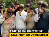Video : Finger On Lips And Blindfolded, Trinamool MPs Protest Delhi Violence