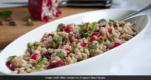 Pearl Barley, Almonds And Pomegranate Salad