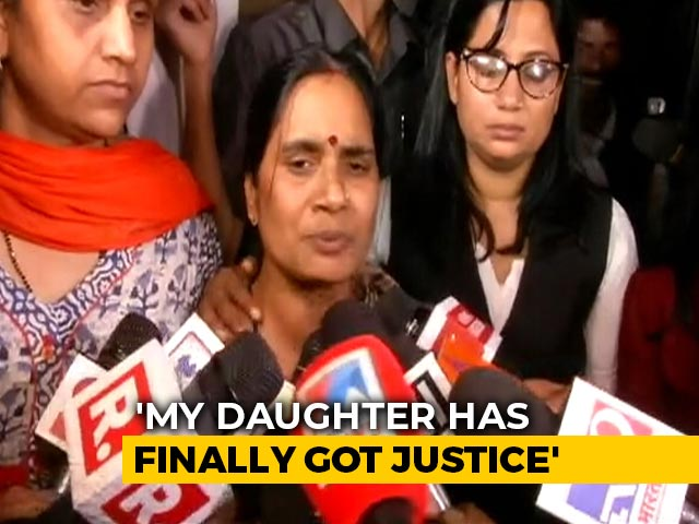 "Video : ""Justice Delayed, But Finally Got It,"" Says Nirbhaya's Mother"