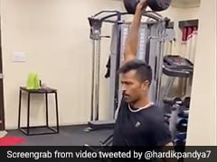 "Watch: Hardik Pandya ""Quaran-Training"" At Home In Latest Twitter Post"