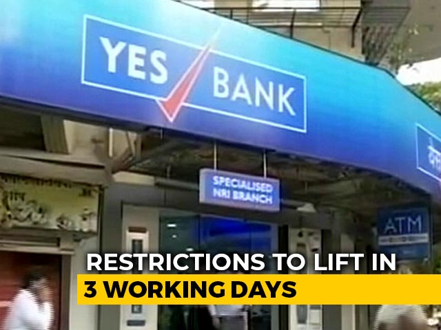 """Video : Yes Bank Rescue Plan Notified, Moratorium To End In """"3 Working Days"""""""