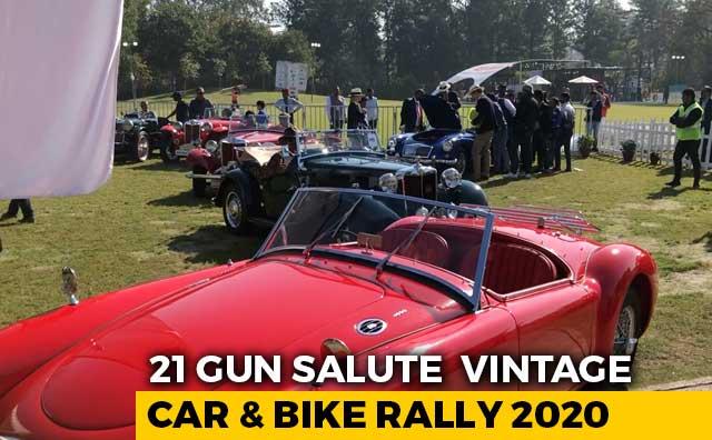 Video : 21 Gun Salute Vintage Car And Bike Rally 2020