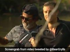 रजनीकांत ने खतरनाक जंगल में भी नहीं छोड़ा स्टाइल, पुल पर लटके आए नजर- देखें Video