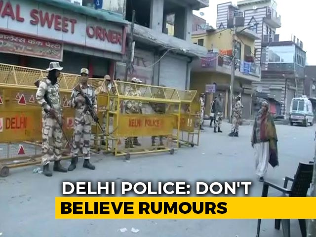 Video : Panic After Reports Of Violence In Delhi; Don't Believe Rumours, Say Cops
