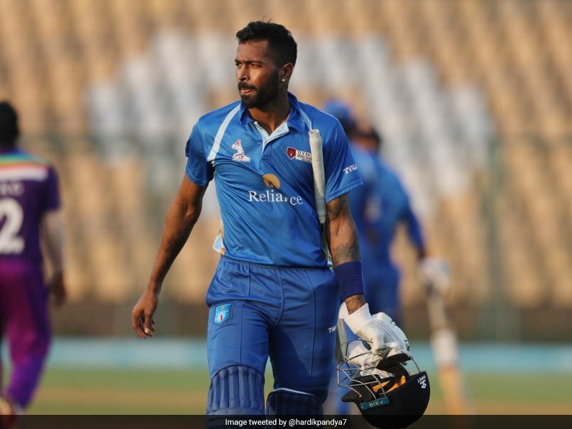 Hardik Pandya Keeps Up Scintillating Form With 55-Ball 158 In DY Patil T20 Cup