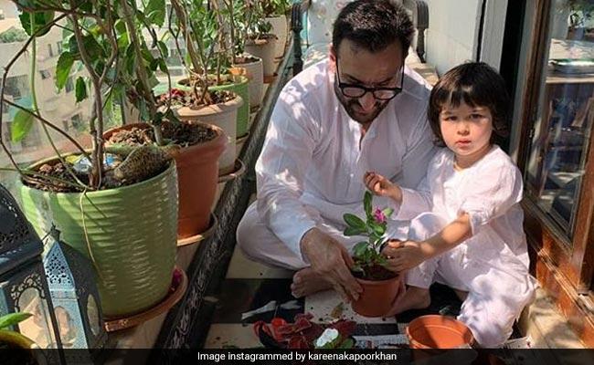 Kareena Kapoor Shares Pics Of Husband Saif Ali Khan And Son Taimur. Says 'My Boys Doing Their Bit'