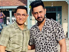 Unseen Pics Of Aamir Khan And Gippy Grewal From The Sets Of <i>Lal Singh Chaddha</i>