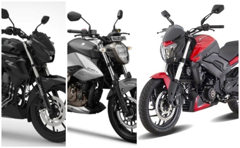 The Bajaj Dominar 250's direct rivals are the Suzuki Gixxer 250 and the Yamaha FZ-25