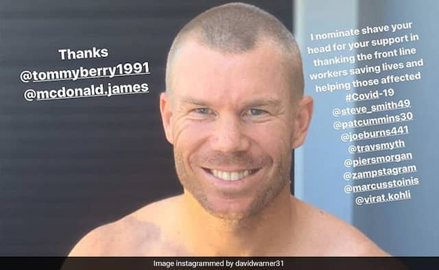 David Warner Shaves Head To Show Support To Medical Staff, Asks Kohli To Follow video