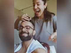 """Anushka Sharma Gives Virat Kohli A Haircut With Kitchen Scissors. """"This Is What Quarantine Does To You,"""" He Says"""