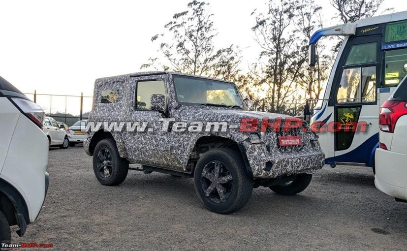The new-gen Mahindra Thar will come with alloy wheels, and the option of both soft and hard roof tops