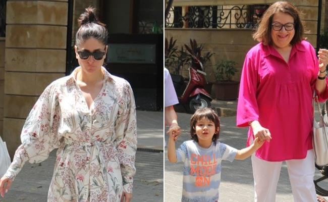Taimur's Day Out With Mom Kareena Kapoor And Granny Babita
