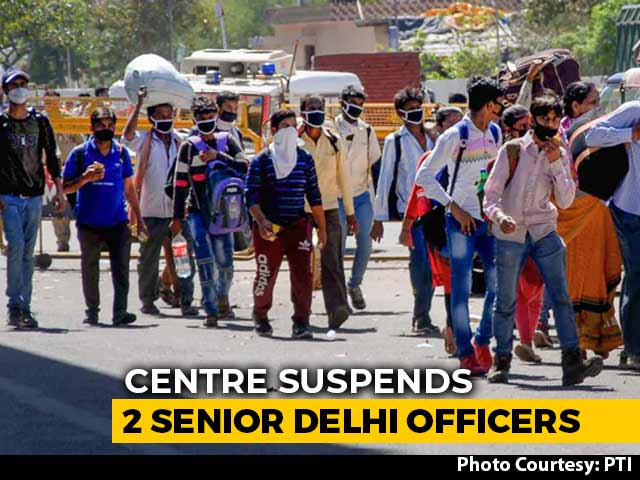"Video : 2 Senior Delhi Officers Suspended Over ""Serious Lapses"" In COVID-19 Duty"