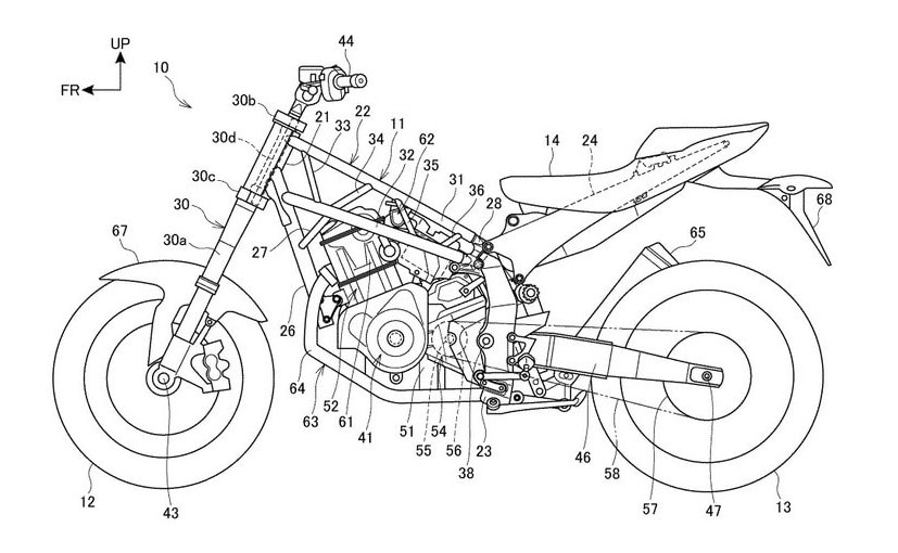 Patent drawings reveal new bike based on latest Honda Africa Twin