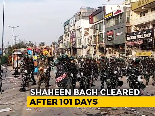 Video : Delhi Under Lockdown, Shaheen Bagh Protest Site Cleared