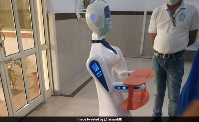 रोबोट नर्स कोरोनोवायरस फाइट में: रिस्क कम करने के लिए जयपुर हॉस्पिटल का कदम