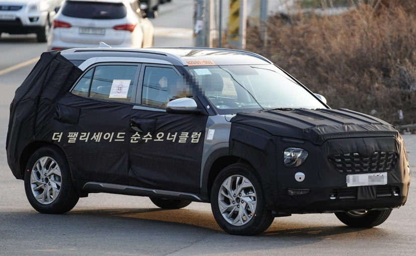 Upcoming Hyundai Creta 7-Seater SUV Spotted Again In Korea