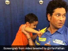 "Watch: Irfan Pathan's Son's ""Boxing"" Match With Sachin Tendulkar"